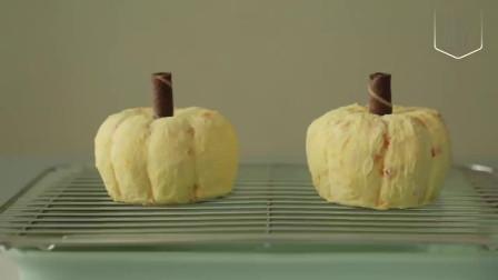 """好逼真的""""南瓜""""蛋糕,挖一勺简直太满足了!"""