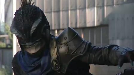 进化错误的假面骑士,仅用拳头的力量就打跑了怪人