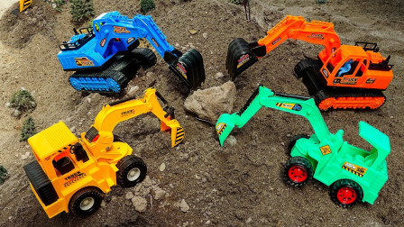 发生什么事?为何这么多的挖掘机聚集在一起?趣味玩具故事