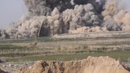 """美军""""杰达姆""""(JDAM)炸弹摧毁武装分子据点,武装分子的噩梦!"""
