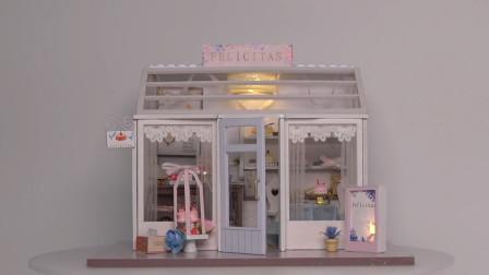 DIY迷你娃娃屋,甜磬漫漫甜品蛋糕店