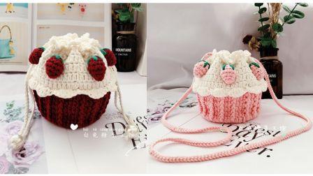 草莓杯子蛋糕包第二弹,草莓装饰部分~白兔糖手工馆第188集
