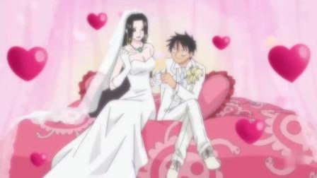 海贼王:女帝与路飞的婚后生活,汉库克成为人妻厨娘真好看!