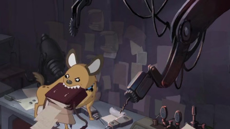 西瓜博士想要拿小狗做实验,不料小狗逃脱,破坏了实验