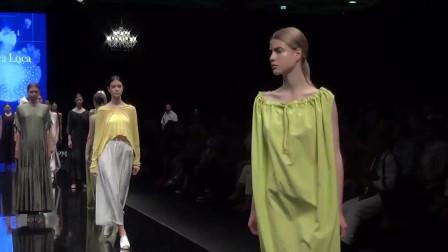巴黎时装周走秀,肤白高挑的超模,气质很迷人