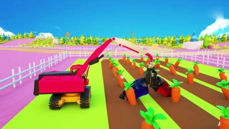 儿童益智学习小兔子与胡萝卜的颜色儿童动画片