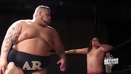 WWE比赛:见过的最蠢的队友,别人没打倒,把自己打趴了