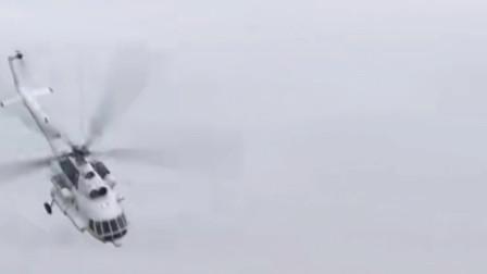 俄罗斯新米-8直升机在空中盘旋展示性能,世界产量最大的直升机