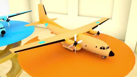 彩色大飞机运来彩色小球