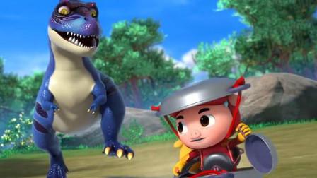 猪猪侠进入恐龙世界遇到偷蛋龙结果?菲菲呢?