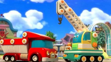 嘟当曼:两个车子在吵架,在比谁的力量大,让嘟当曼来评评理