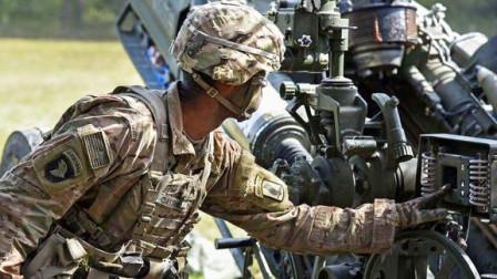 M777超轻型榴弹炮,实弹发射镜头,炮声听着还不错!