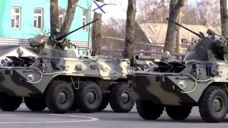 波罗第336独立近卫海军陆战旅,BTR-82A装甲运兵车华丽表演!