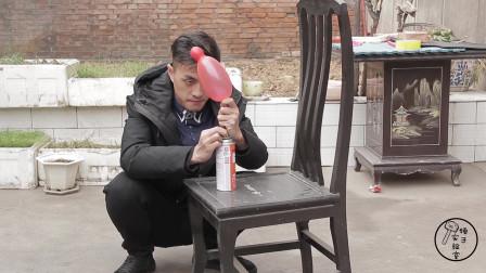 小伙作死实验往气球里充丁烷,然后用丁烷点燃气球,顿时火光四溅
