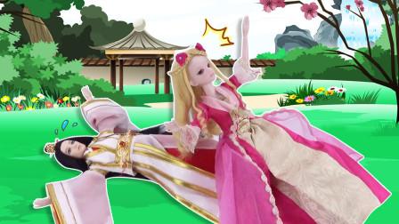 叶罗丽古装剧 灵公主穿越从天而降,砸到王爷后被当成神仙妹妹