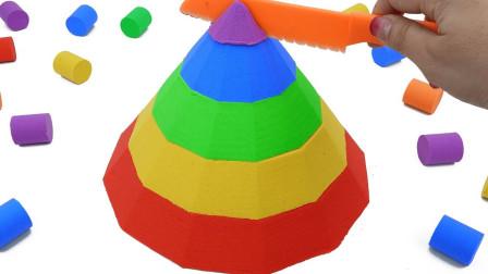 手工制作创意彩虹金字塔