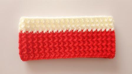 针法的巧妙运用外钩长针和内钩长针的完美配合很有弹力适合围脖编织花样集锦图解