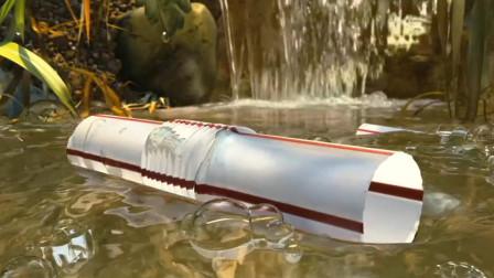 男孩扔掉的吸管,被小人捡去改造后,成了水淹整个王国的武器