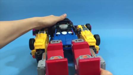 迷你特工队宝宝玩具拼装:初代机甲合体之后就要去保护小动物了