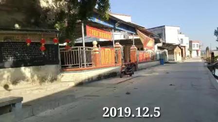 广西上林云陆庄 村民自发组织修建篮球场与河堤 全村义务劳动建设美好家乡
