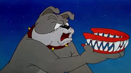 猫和老鼠:大狗给自己换一副大牙,汤姆一看吓坏了!