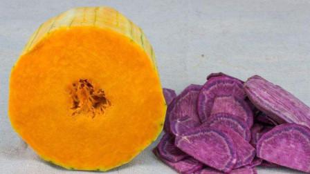 天冷多给孩子吃南瓜,加1块紫薯,简单一做,孩子常吃增加免疫力