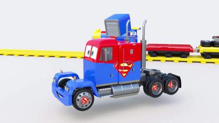 儿童益智组装超级卡车开发儿童智力卡通动画