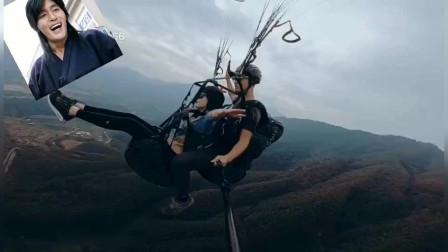 上林猎鹰滑翔 像鸟一样飞翔太刺激了!