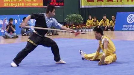 2005年第十届全运会男子武术套路预赛 男子对练 005 徒手对抢  廖奋 等(江西)第五名