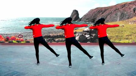 中老年运动操美体瘦身操《都是兄弟》四组动作活力动感,背面演示