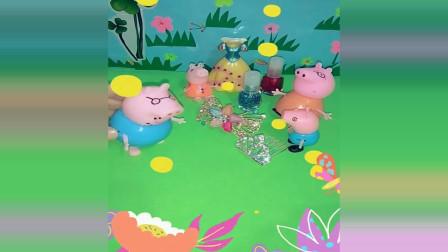宝宝玩具动员:佩奇生日,猪爸爸忘了买生日蛋糕你可以