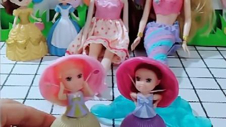 童话王国来了很多公主,小朋友们,你们喜欢哪个公主呢?