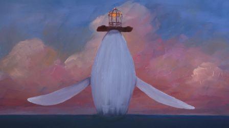 绘制在玻璃上的动画:一段绝美的鱼鸟之恋:动画短片《The Bird & the Whale》