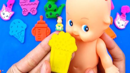 趣味动画 用太空沙彩泥做出奶瓶冰淇淋吉他 创意玩具