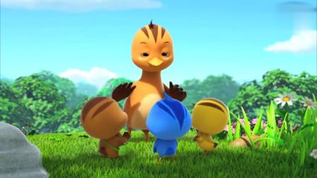 萌鸡小队:朵朵真厉害,长得这么小,还能和那么大的黑熊叔叔理论