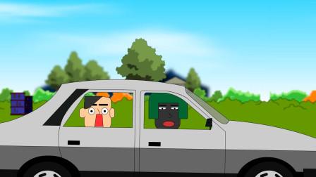 吃鸡搞笑动画:开车从身上碾过,又倒回来是想干嘛?