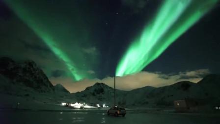 这就是大自然魅力,奇妙景象挪威极光!太美了