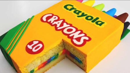 国外牛人制作蜡笔盒蛋糕, 新奇而独特的创意, 网友一点食欲也没了