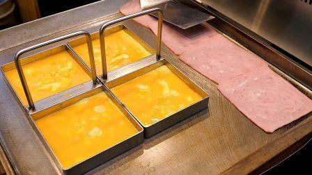 韩国街头非常受欢迎的早餐摊,鸡蛋吐司和百吉饼,有没有馋到你