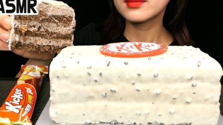 ☆ Mukderella ☆ Dunkin Donuts限量KitKat系列曲奇奶油巧克力蛋糕、大块KatKat巧克力威化棒 食音咀嚼音(新...