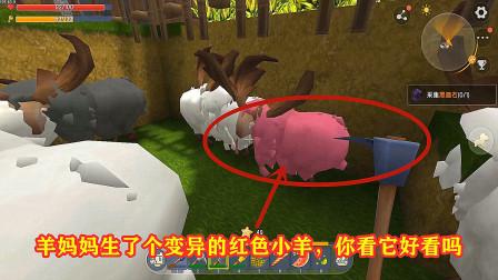 小诚迷你世界生存:羊妈妈生了个变异的红色小羊,你看它好看吗