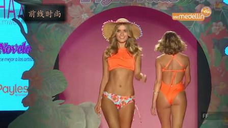 米兰时尚泳装秀,色彩鲜艳的泳装,回头率会很高