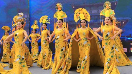 旗袍春晚总决赛精彩节目展示:模特宫廷秀——《采薇》