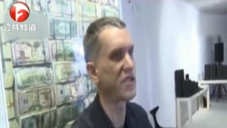 坐在钱堆里什么感觉?俄艺术家现金打造百万美元宝座