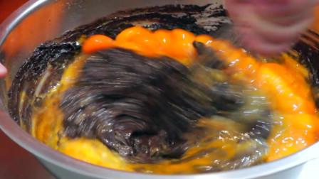 实拍台湾古早味鸡蛋糕制作全过程