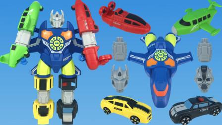 变形金刚系列,磁力合体机甲机器人玩具,磁吸五合体