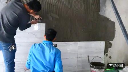 小国10几年装修经验的泥水贴砖,地砖贴墙这样做你还担心掉砖吗?