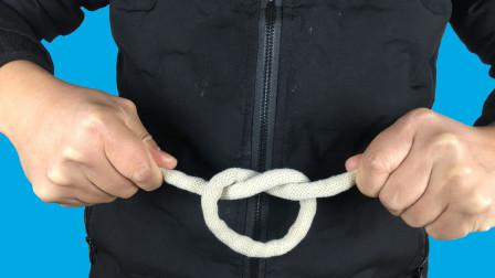 魔术教学:为什么绳子可以自动打上绳结?简单但没几个人能做到