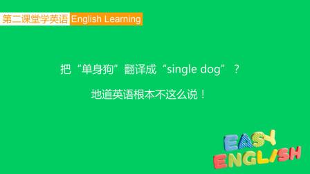 """英语口语:把""""单身狗""""翻译成single dog?地道英语根本不这么说"""