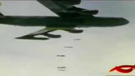 美国B52轰炸机让我们见识了真正的现代轰炸简直就是放鞭炮